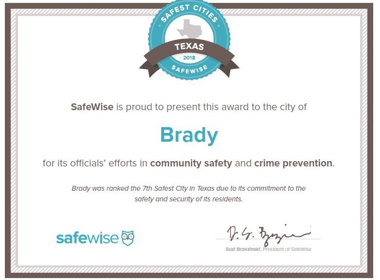 SAFE WISE AWARD