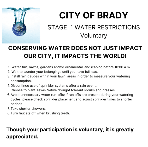 Stage 1 water restrictions